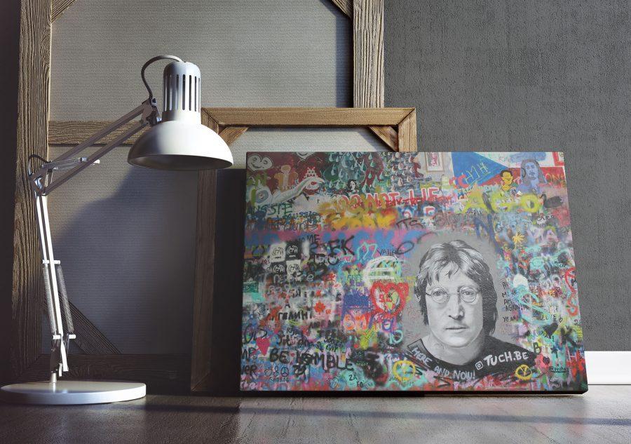John Lennon Muur Praag - Urban Wanddecoratie