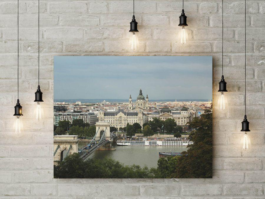 Boedapest Kettingbrug - Architectuur Wanddecoratie