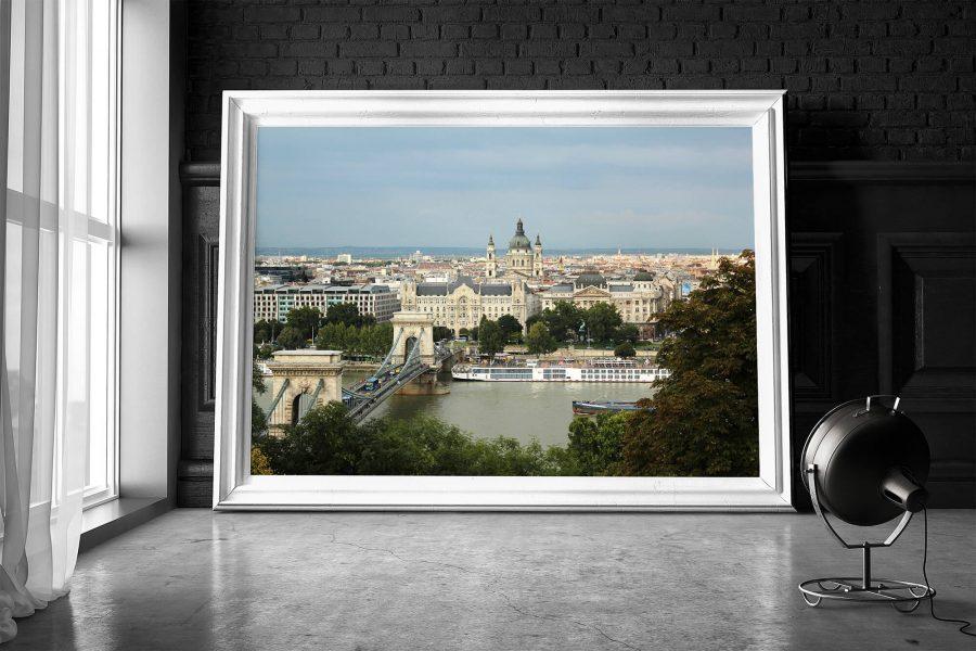 Kettingbrug Boedapest Poster en Print