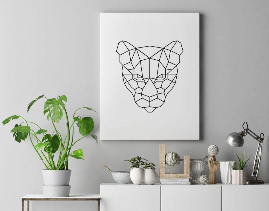 Tijger Poster en Print - Minimalistische Wanddecoratie