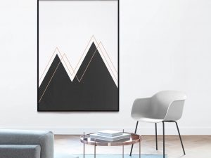 Abstract Mountains Abstracte Minimalistische Print