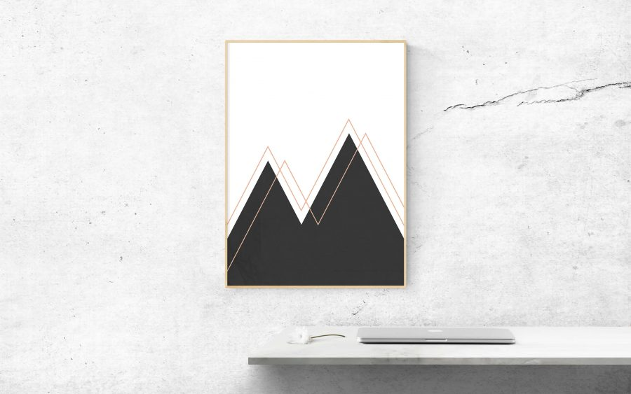 Abstract Mountains Moderne Scandinavische Wanddecoratie