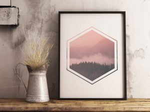 Landschap Hexagon Poster