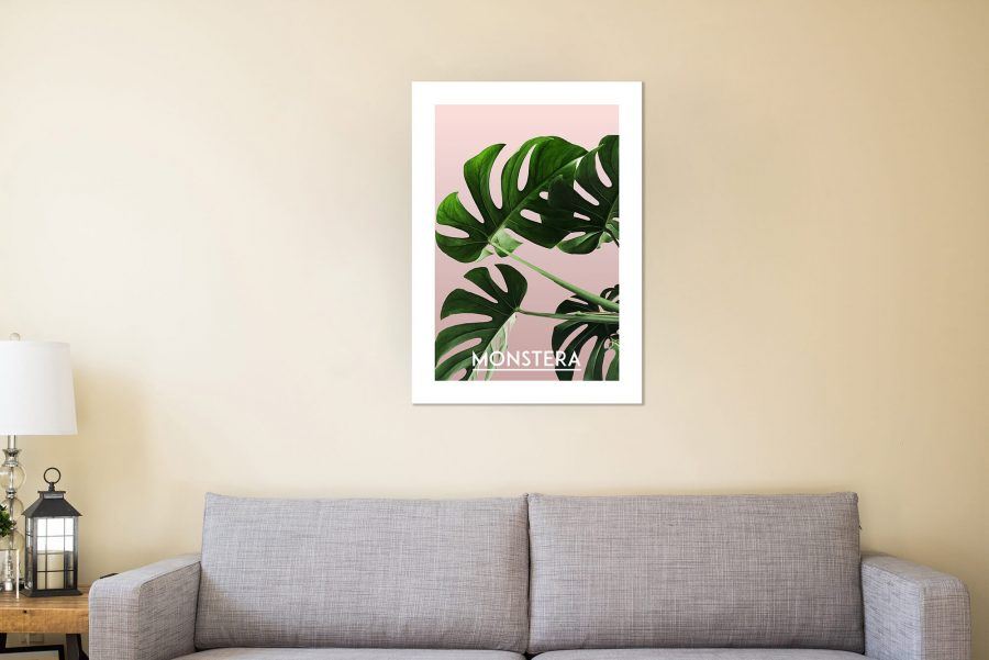 monstera Botanische Poster en Canvas Print