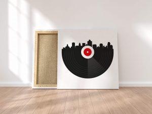 Vinyl City Canvas Print