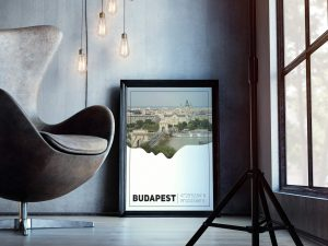 Boedapest Silhouette Poster