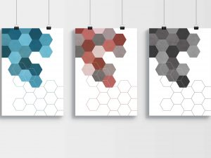 Geometrische Hexagon Poster