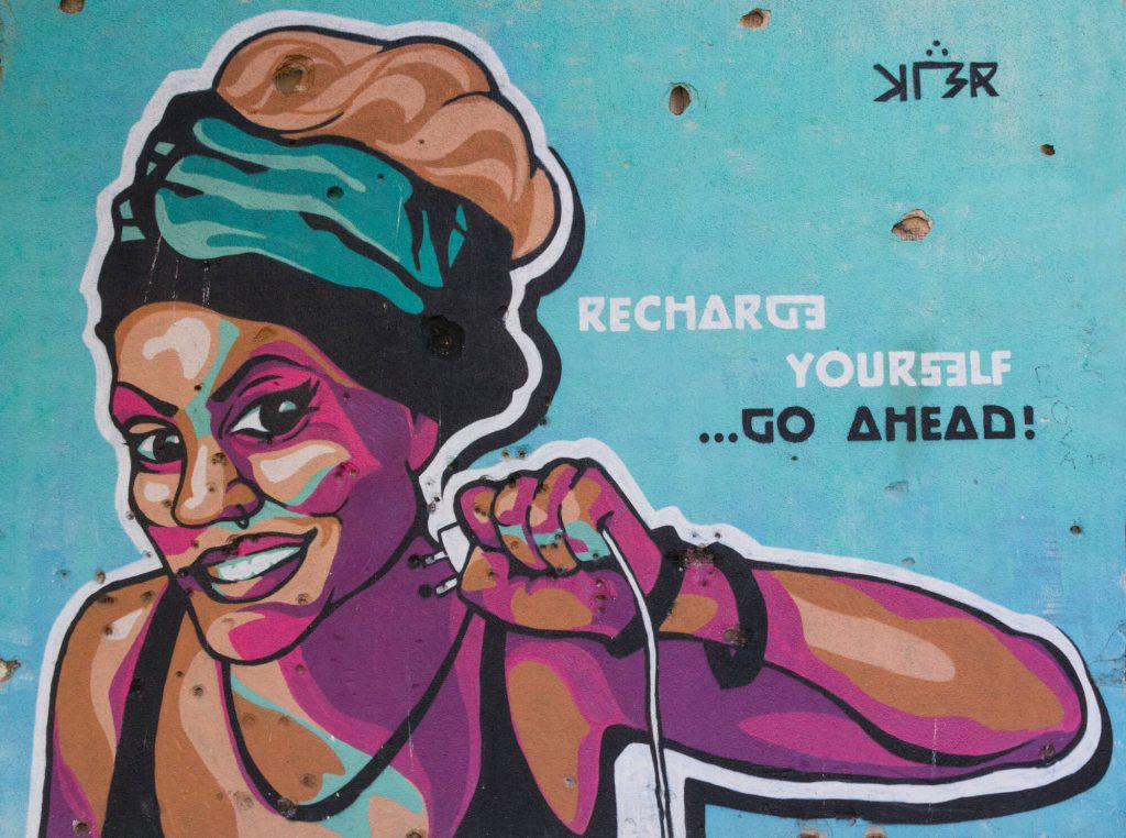 Mostar Street Art: Recharge Yourself
