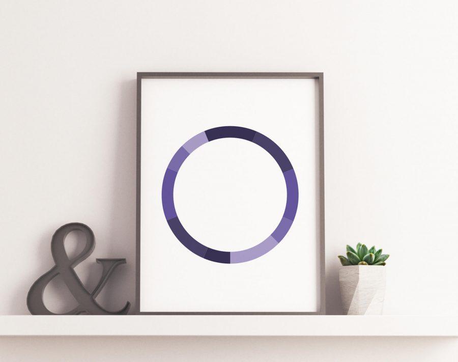 Monochromatic Series Posters - Purple