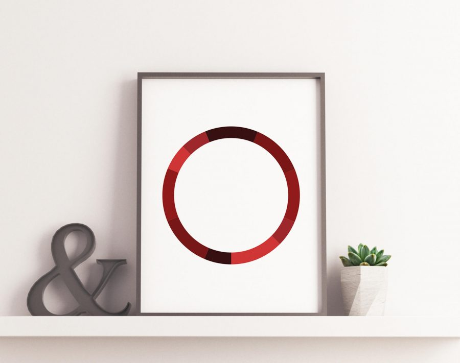 Monochromatic Series Posters - Red