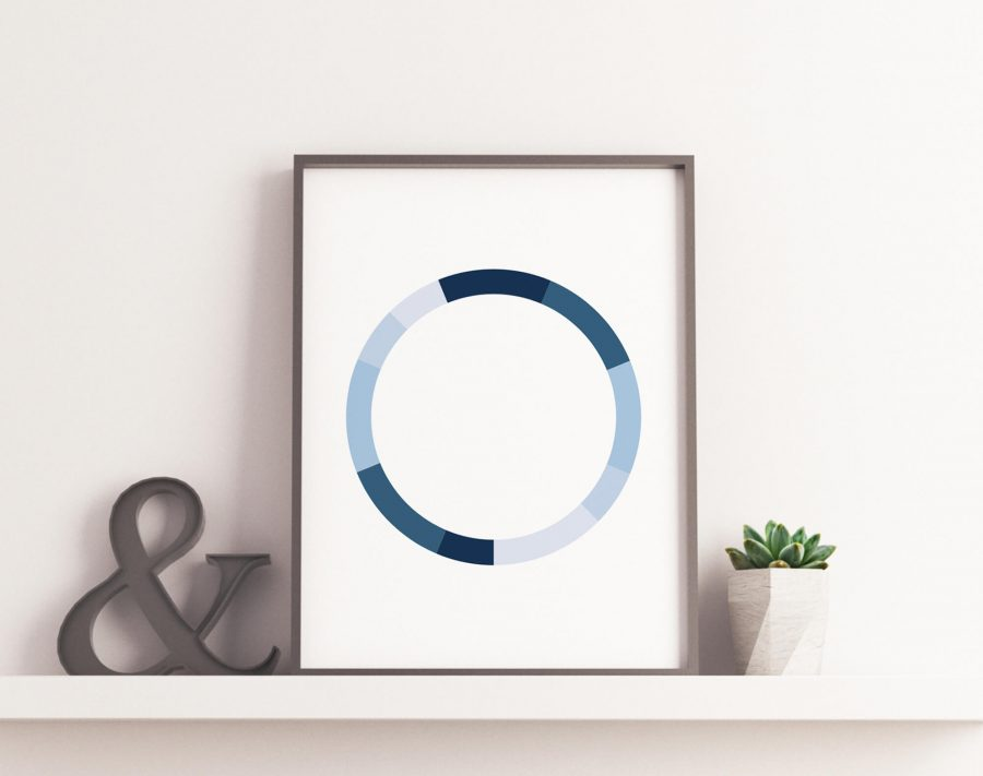 Monochromatic Series Posters - Blue