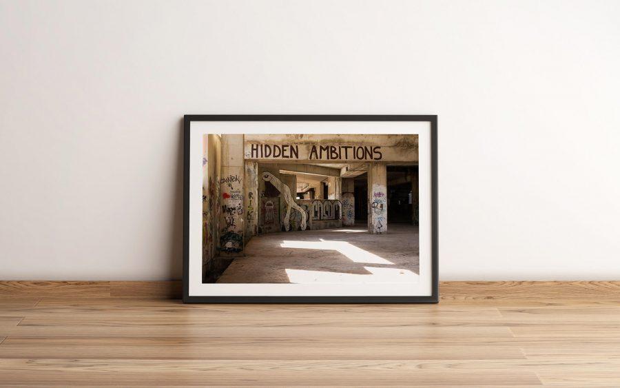 hidden ambitions industriele poster en print