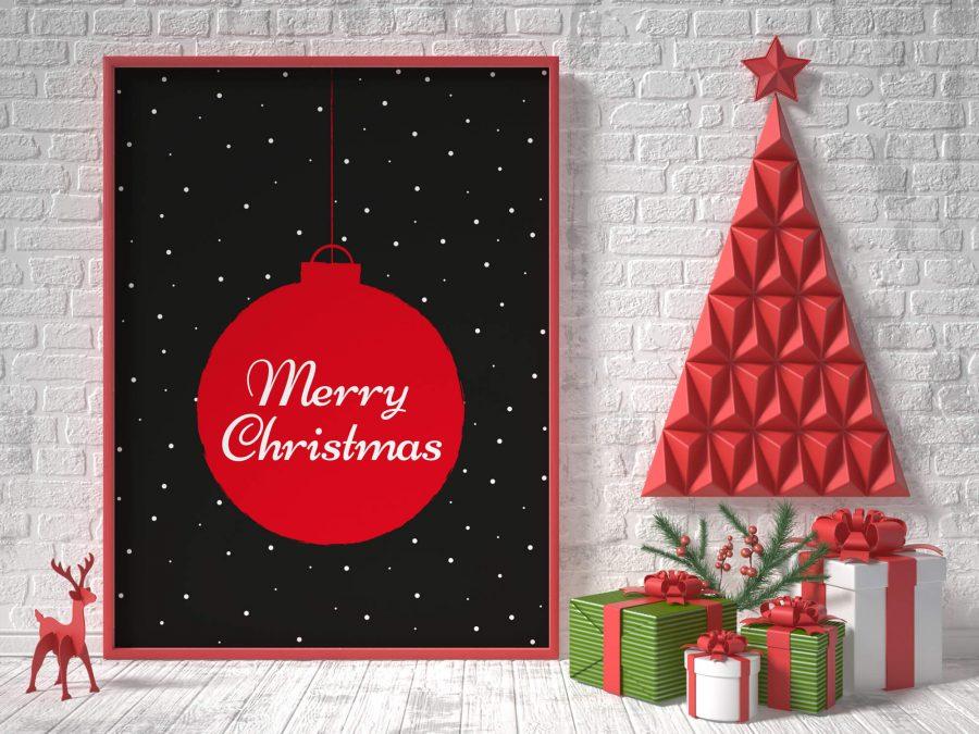 Kerst Muurdecoratie: Merry Christmas Poster