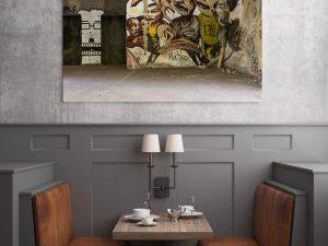 sniper tower street art poster en print
