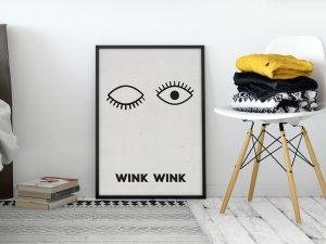 Wink Wink Scandinavische muurdecoratie poster