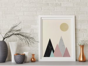 Minimalist Mountains Poster - Scandinavische Wanddecoratie