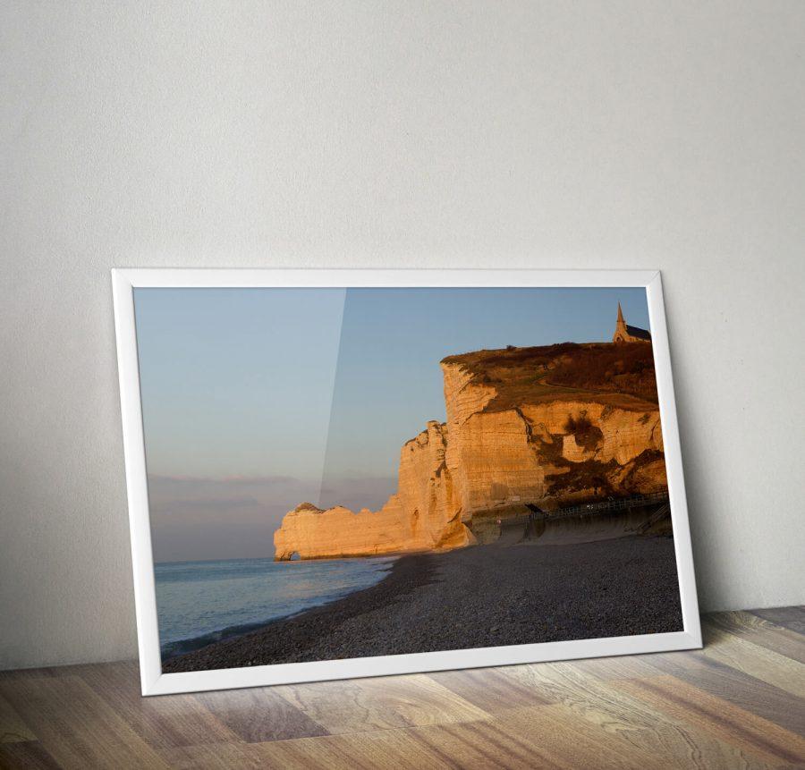 Normandie Krijtrotsen Poster - Natuur Wanddecoratie