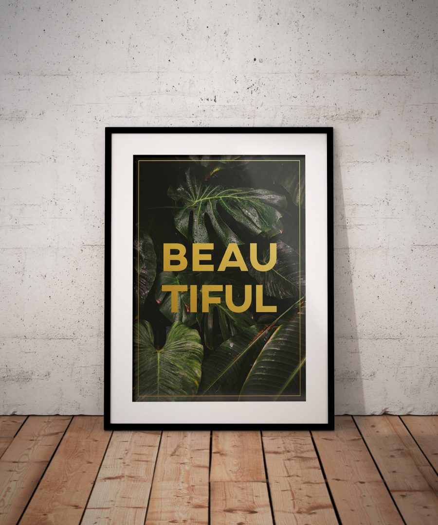 Beautiful - Botanische Poster Print | MDRN HOME