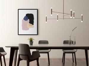 Abstracte, minimalistische poster in Scandinavische stijl