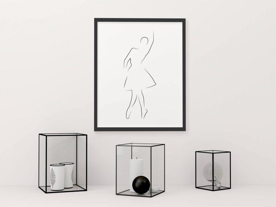 Ballerina Lijnen Poster | Koop moderne posters online