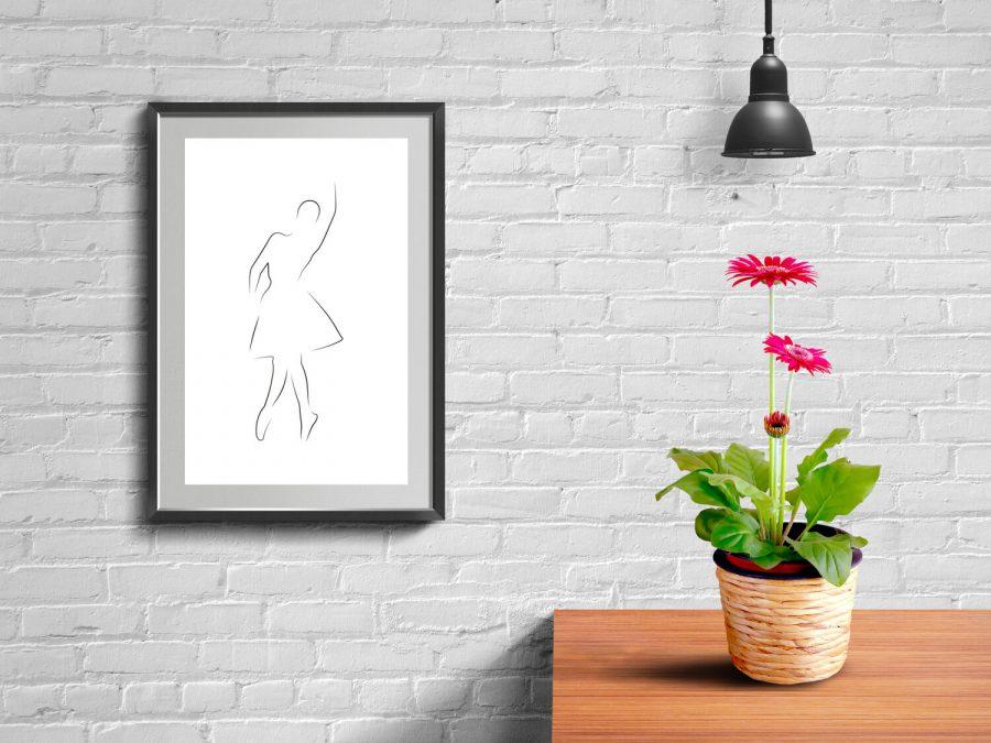 Ballerina Lijnen Poster   Koop moderne posters online