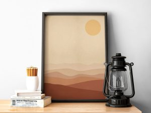 Burnt Orange Landscape - Scandinavische Wanddecoratie