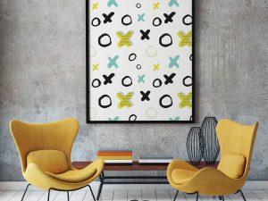 Abstracte Moderne Poster