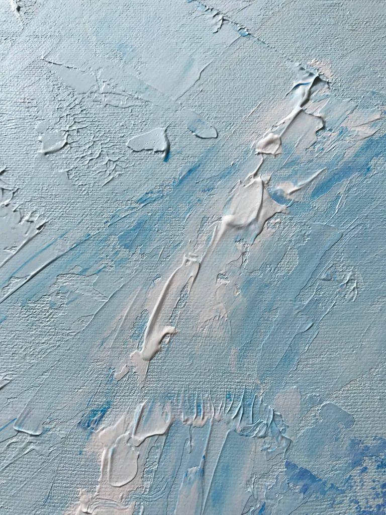 Acryl verf diverse lagen blauw - Abstract Seascape