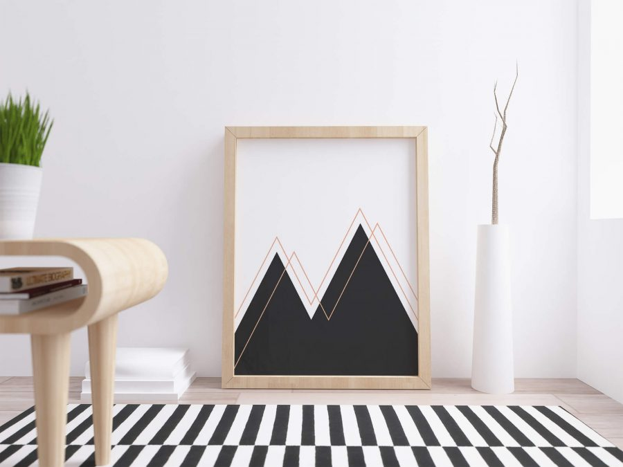 Abstract Mountains Moderne Scandinavische Printable,