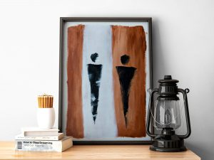 Abstracte Figuren - Fine Art Papier