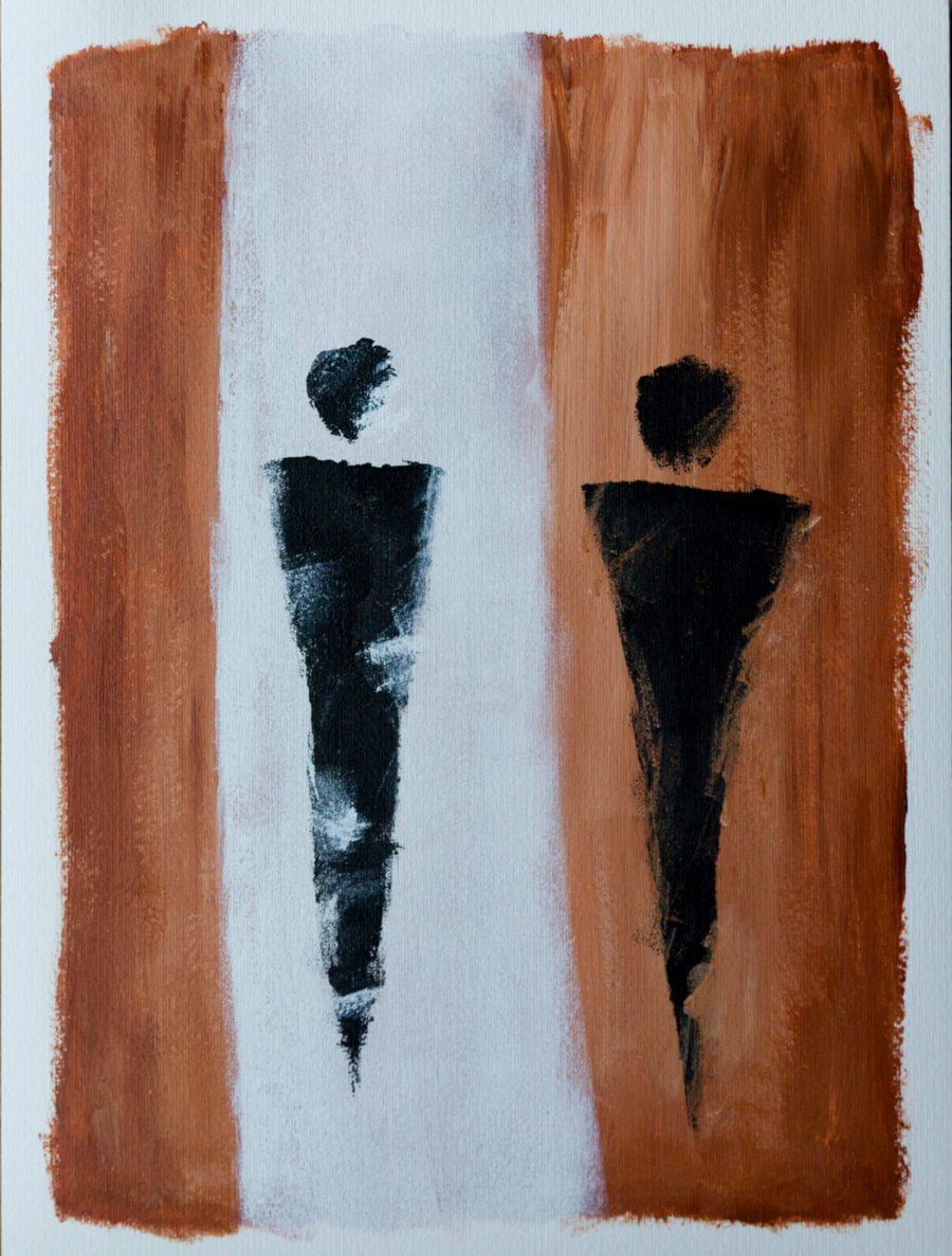 Abstracte Figuren - Fine Art Papier - Betaalbare moderne kunst