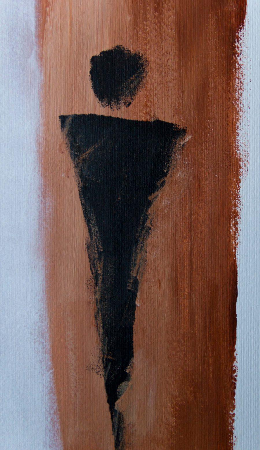 Abstracte Figuren - Fine Art Papier - eerste figuur