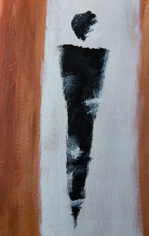 Abstracte Figuren - Fine Art Papier - tweede figuur