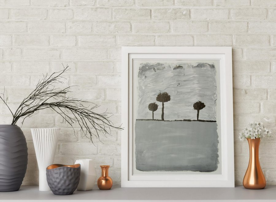 Abstract Trees - Fine Art Papier - Moderne Kunst Online Kopen