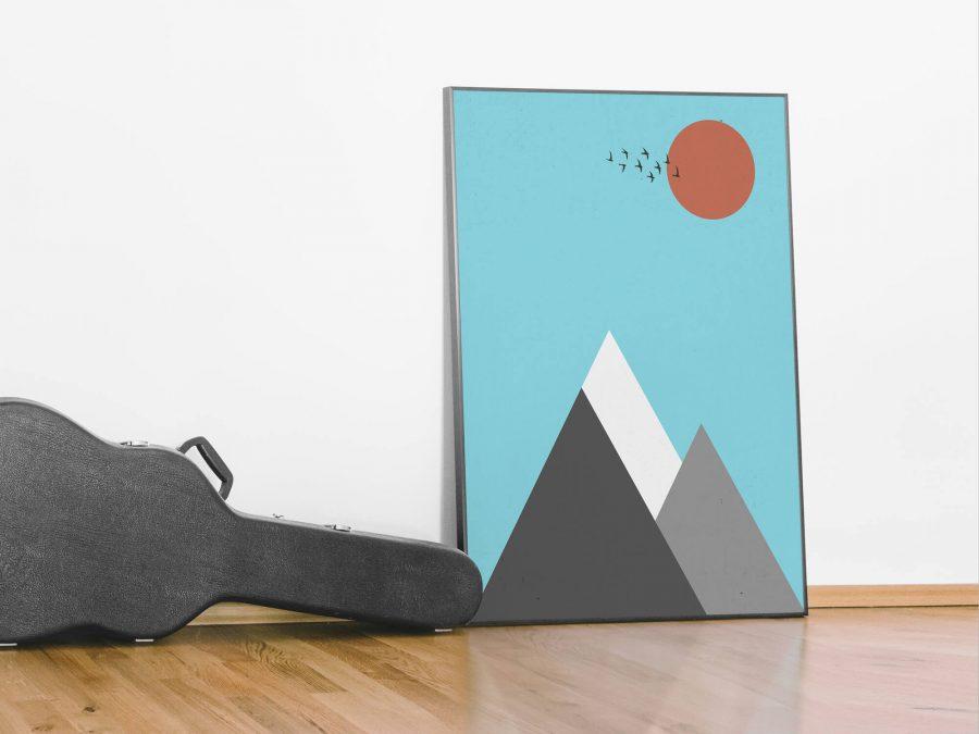 Abstract Berglandschap Poster - Scandinavische Poster