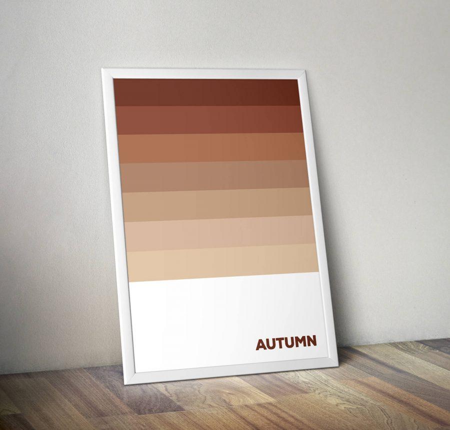 Autumn - Herfstkleuren Abstracte Poster