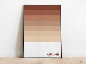 Autumn - Herfstkleuren Poster - Abstracte Wanddecoratie
