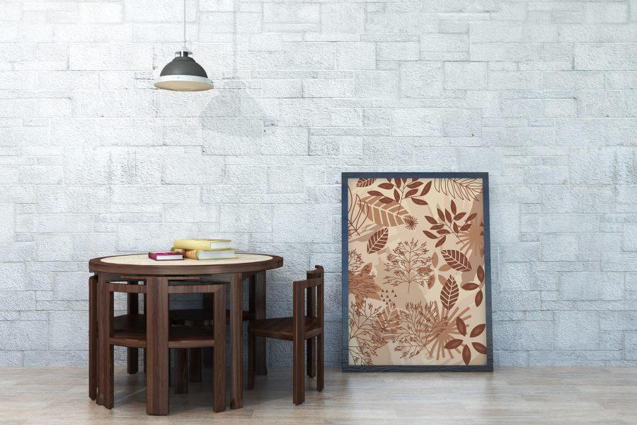 Herfstbladeren Abstracte Botanische Poster