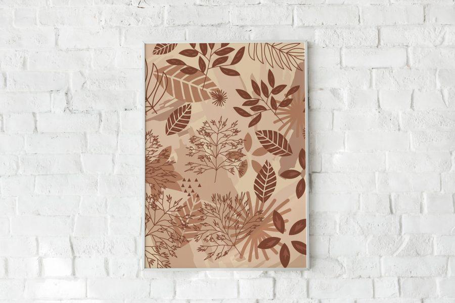 Herfstbladeren Botanische Wanddecoratie