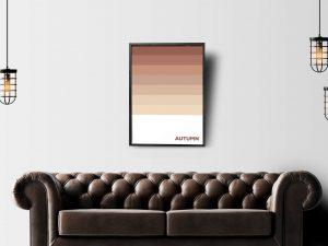 Herfstkleuren Poster - Abstracte Wanddecoratie