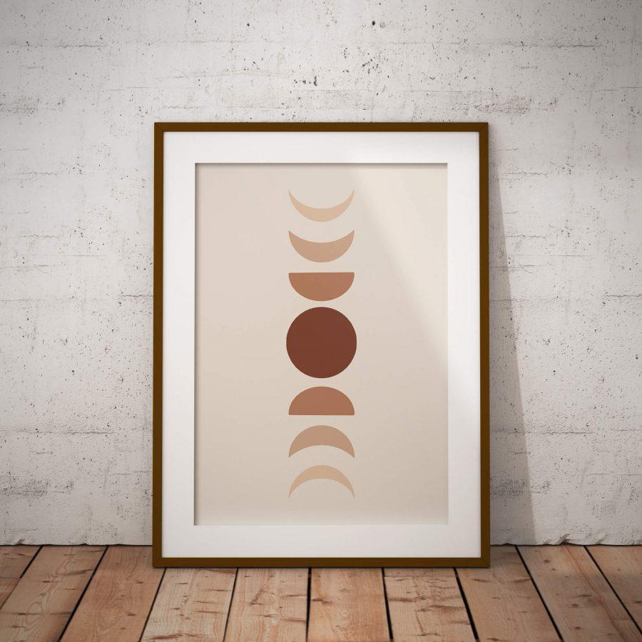 Maan Cyclus Scandinavische Poster