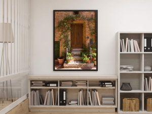Mooie Toscaanse Deur Poster - Italie Wanddecoratie