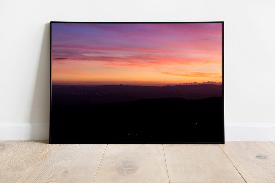Toscaanse Zonsondergang Poster - Landschapsfotografie