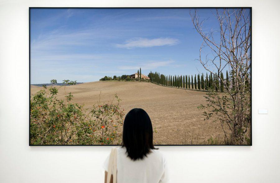 toscaans landschap fotografie wanddecoratie