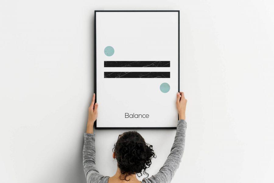 Balance - Noordse Poster