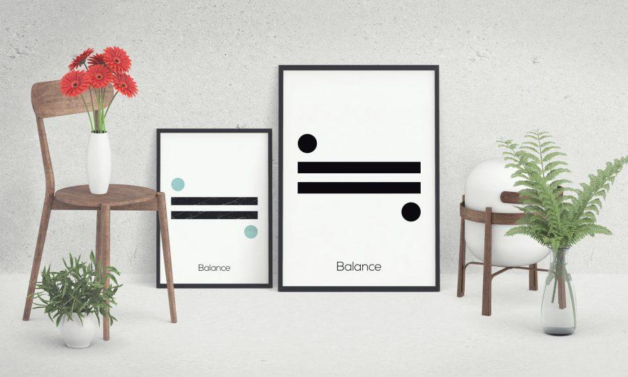Balance - Scandinavische Poster Wanddecoratie