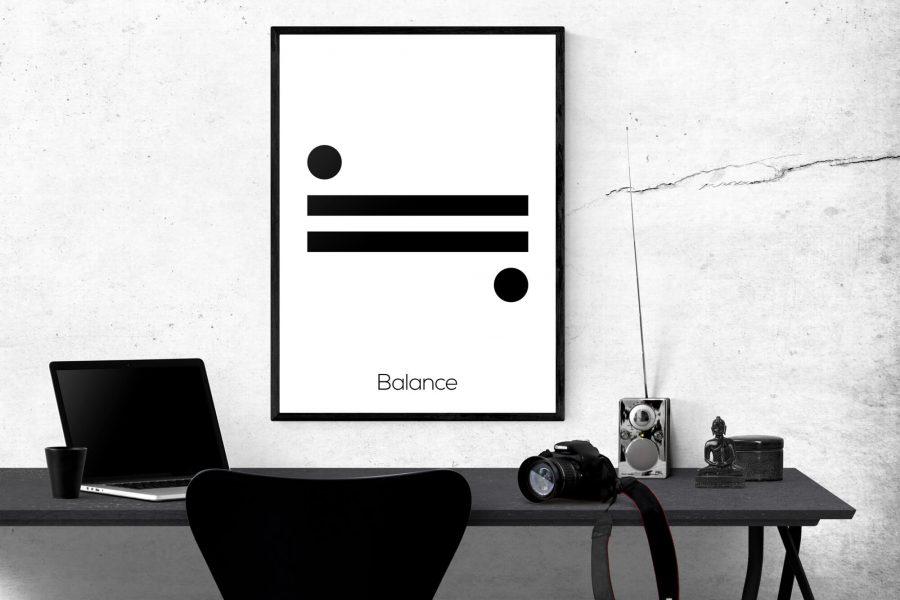 Balance - Scandinavische Wanddecoratie