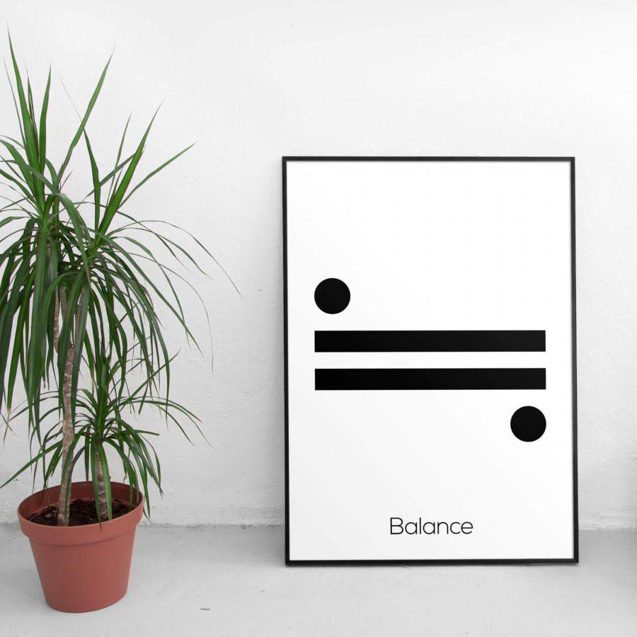 Balance - Scandinavische minimalistische Poster Wanddecoratie