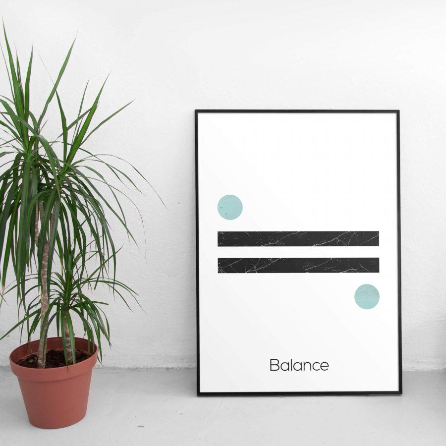 Balance - Scandinavische minimalistische Wanddecoratie