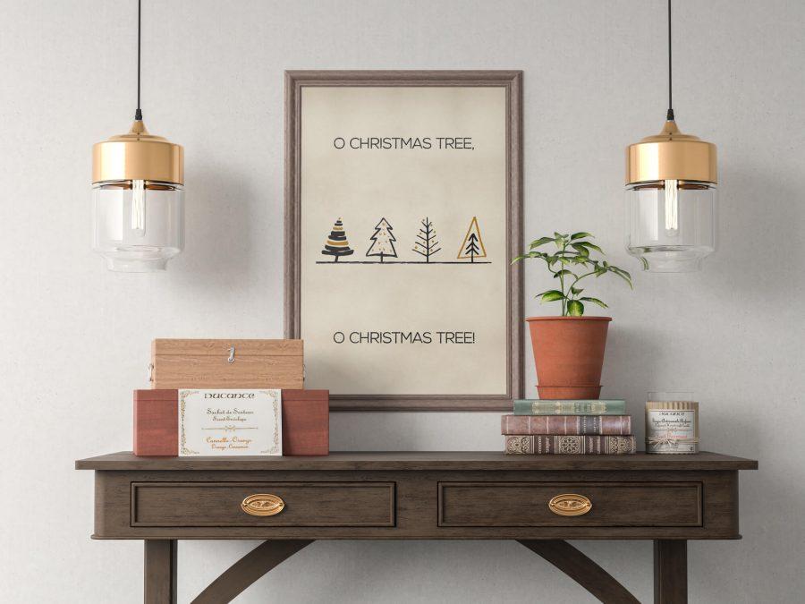 Poster met kerstbomen - Scandinavische kerstposter